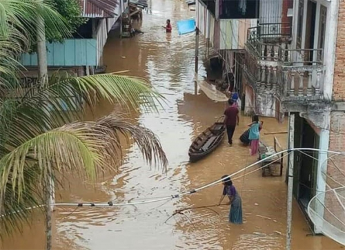 Ini Data Rumah Warga yang Terendam Banjir di Kampar Kiri
