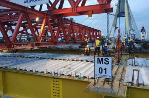 Jembatan Siak IV Akhirnya Tersambung, Pekan Kedua Bulan Februari Bisa Dilewati