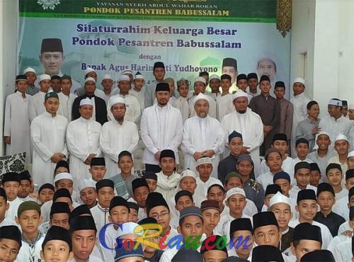 Hadir di Ponpes Babussalam Pekanbaru, AHY Ngaku Hatinya Sejuk dan Tenteram