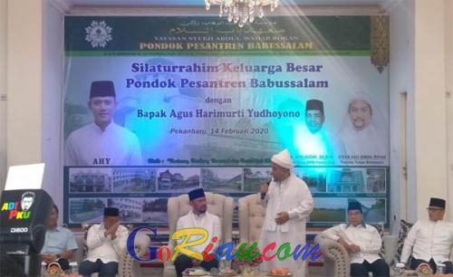 Berkunjung ke Ponpes Babussalam Pekanbaru, AHY Didoakan Jadi Pemimpin yang Baik