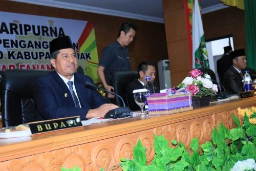 M Fanani Dilantik PAW Anggota DPRD Kabupaten Siak, Alfedri Sampaikan Tahniah
