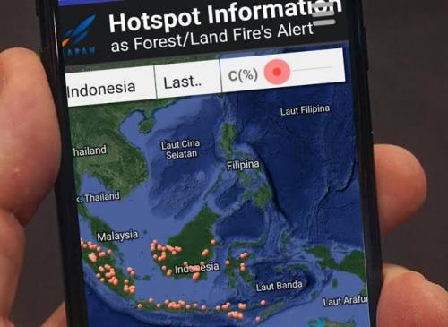 Dua Titik Api Terdeteksi di Kepulauan Meranti dan Dumai