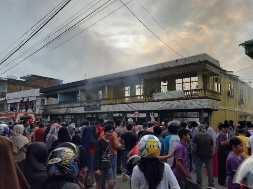 Warga Hongkong Tewas dalam Kebakaran Ruko di Telukkuantan