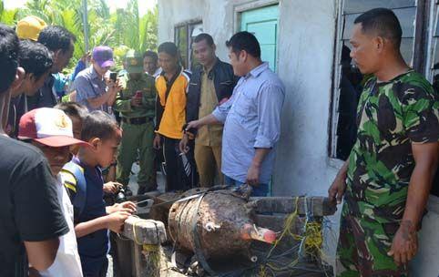 Bom Aktif Ini Nyangkut di Jaring Nelayan Meskom Bengkalis