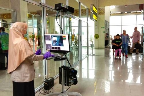 Deteksi Cacar Monyet, KKP Pasang Thermal Scanner di Bandara SSK II Pekanbaru