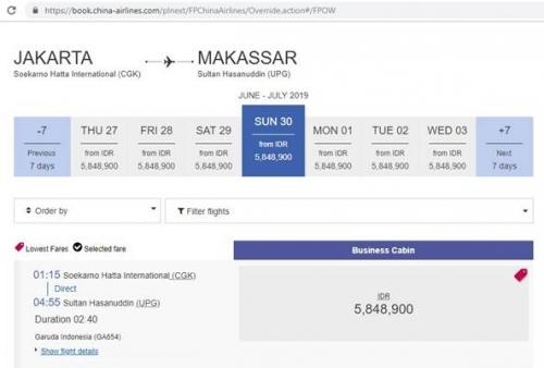 China Airlines Sudah Jual Tiket Penerbangan Jakarta-Makassar, Begini Penjelasan Pihak Garuda