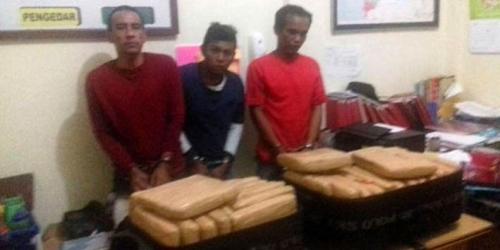 Bawa 35 Kilogram Ganja saat Arus Balik Lebaran, 2 Pria Ditembak Polisi