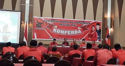 Dihadiri Djarot Syaiful Hidayat, Konferda PDIP Riau Berlangsung Tertutup
