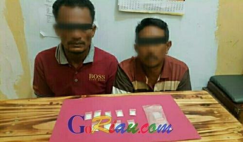 Polisi Sita 9 Paket Sabu dari Kurir dan Pemakai di Jalan Koridor Pangkalan Kerinci