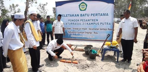 Wabup Kuansing Wakafkan Satu Hektare Tanah untuk Ponpes Syafaaturrasul