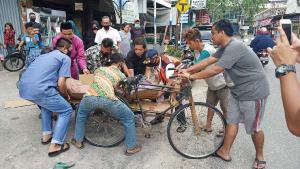 Seorang Pria Tiba-tiba Meninggal Dunia di Pinggir Jalan di Pekanbaru