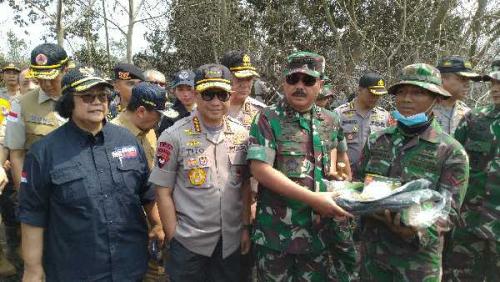 Hari Ini, Panglima TNI Tinjau Karhutla Riau