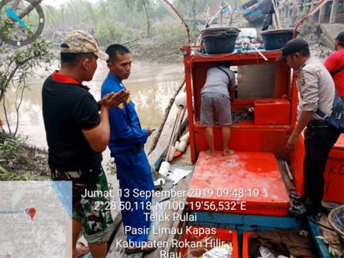 Kapal Ikan Malaysia Terdampar di Panipahan