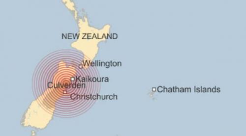 Gempa 7,8 SR Disusul Tsunami Terjang Selandia Baru