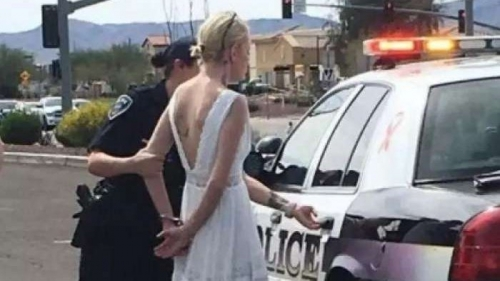 Mempelai Wanita Ditangkap dan Diborgol Polisi di Hari Pernikahan, Ini Kesalahannya