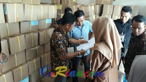 Sebanyak 1.061.602 Surat Suara Telah Tiba di KPU Pelalawan