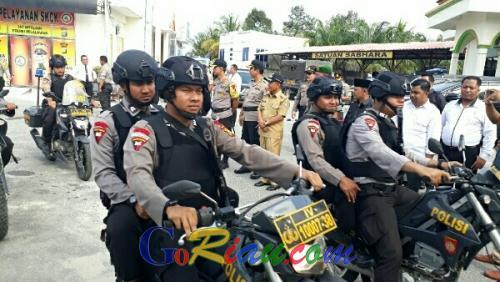 Pengamanan TPS, Polres Pelalawan Kerahkan 430 Personel