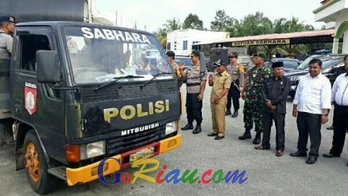 Sukseskan Pemilu 2019, Polisi Jamin Keamanan Warga Pelalawan ke TPS