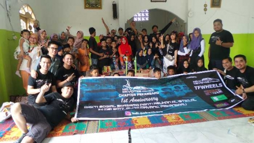 1st Anniversary HR-V Devotee Chapter Pekanbaru, Berbagi Senyum dan Keceriaan Bersama Anak Yayasan