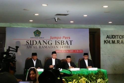 Pemerintah Tetapkan 1 Ramadhan 1439 H Jatuh Kamis