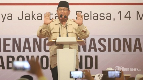Angka Kemenangan Prabowo Turun Jadi 54 Persen, Begini Penjelasan BPN