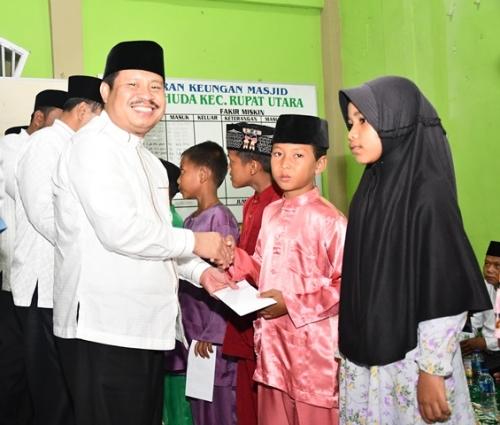 Safari Ramadan di Rupat Utara, Bupati Bengkalis Ajak Perangi Narkoba