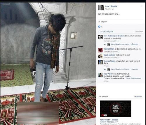 Unggah Foto Injak Alquran di Facebook, Polisi Tangkap Pemuda di Pasaman Barat