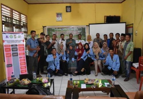 Tim Pengabdian Unri Adakan Sosialisasi Pentingnya SPM Desa di Pangkalan Serik