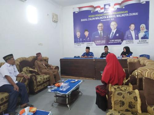 Resmi Ditutup, 17 Orang Kandidat Calon Walikota Dumai Mendaftar ke PAN