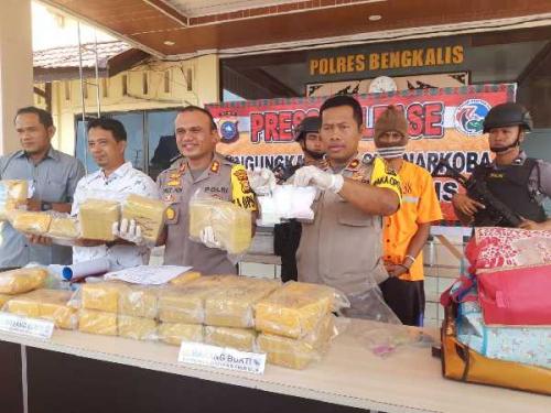 27 Kilogram Sabu Jenis Baru Diamankan di Pelabuhan RoRo Air Putih Bengkalis