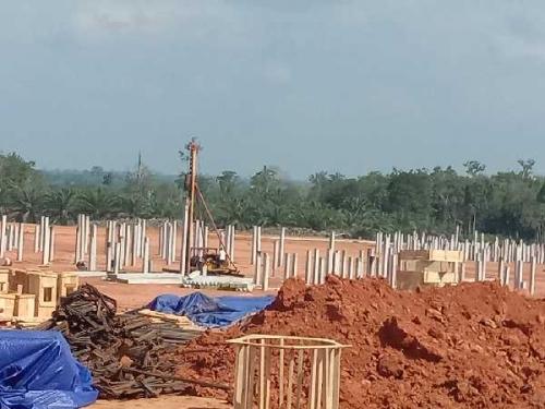 Masyarakat Protes, Proyek Pembangunan PKS di Desa Semelinang Darat Peranap Diduga Belum Lengkapi Izin