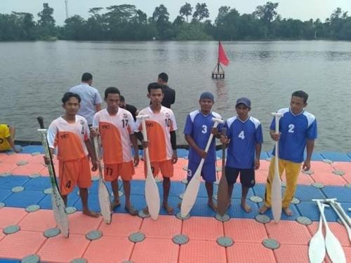 Tim Dayung Kampung Rantau Panjang Optimis Menang di Kejuaraan Serindit Boat Race Internasional II