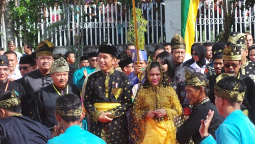 Hadiri Pagelaran Budaya, Jokowi Berpesan Agar Masyarakat Riau Selalu Jaga Kerukunan dan Persatuan