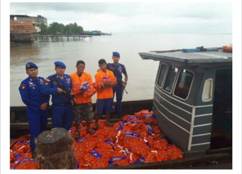 Kapal Bermuatan Barang Ilegal dari Malaysia Diamankan Polres Bengkalis