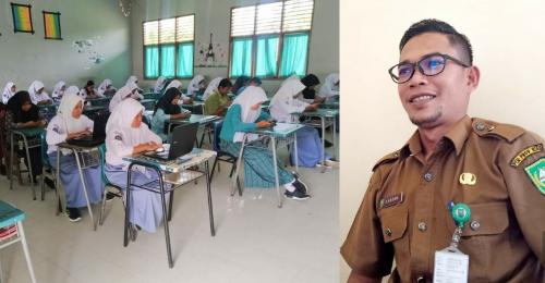 Pertama di Riau, SMA/SMK di Rohul Sukses Terapkan Ujian Berbasis IT