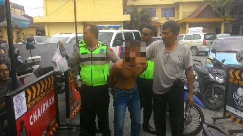 Temukan Pecahan Busi, Pelaku Jambret yang Ditangkap Polantas Pekanbaru Diduga Terlibat Aksi Pecah Kaca
