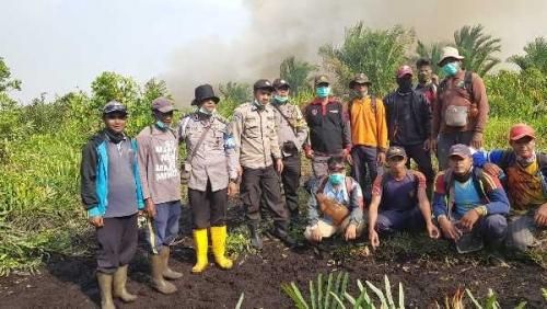 Karhutla di Meranti, Dua Lokasi Masih Terbakar, BPBD Tambahkan Personil