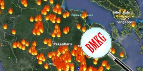 Satu Titik Api Muncul di Kecamatan Kuala Kampar Pelalawan