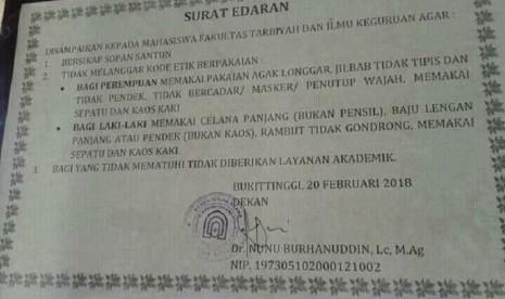 Ironi, Larangan Bercadar Justru Terjadi di Perguruan Tinggi Islam, Termasuk di IAIN Bukittinggi