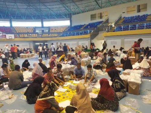 KPU Kampar Libatkan 300 Orang Lipat Surat Suara Pemilu Hingga Senin Depan