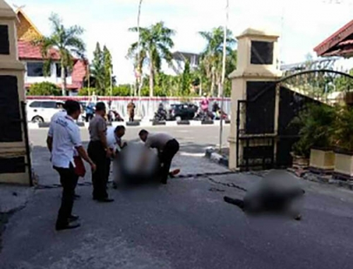 3 Orang Terduga Teroris yang Serang Mapolda Riau Terkapar Ditembak Polisi