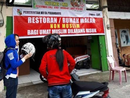 Ada Nomor Izin di Spanduk Rumah Makan Non Muslim yang Sudah Urus Izin Buka Selama Ramadhan