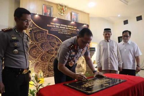 RAPP Hibahkan Gedung Baru SPKT Polres Pelalawan kepada Kapolda Riau