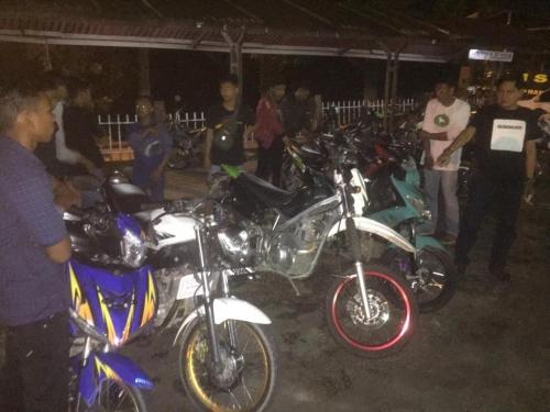 Polsek Mandau Tangkap 8 Ranmor Bali yang Resahkan Warga