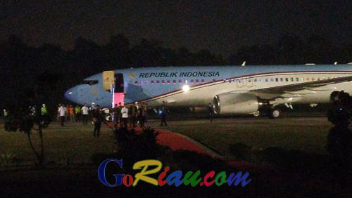 BreakingNews, Presiden Jokowi Tiba di Kota Pekanbaru