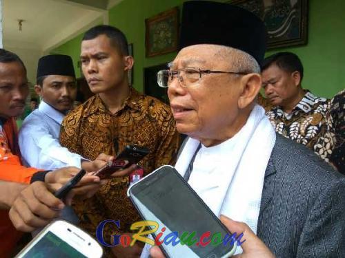 Dinilai Berhasil dalam Pembangunan di Riau, Maruf Amin Optimis Jokowi Dua Periode