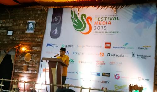 Gubernur Jambi Buka Festival Media 2019, Manan: AJI Batasi Kerja Sama dengan Pemerintah Demi Jaga Independensi