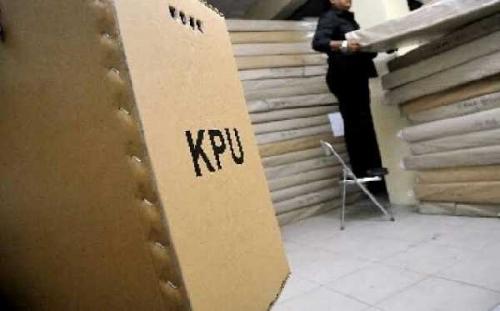 4.375 Kotak Suara Pemilu 2019 Berbahan Kardus Sudah Tiba di KPU Pelalawan