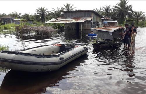602 KK di Kecamatan Pangkalan Kerinci Terdampak Banjir