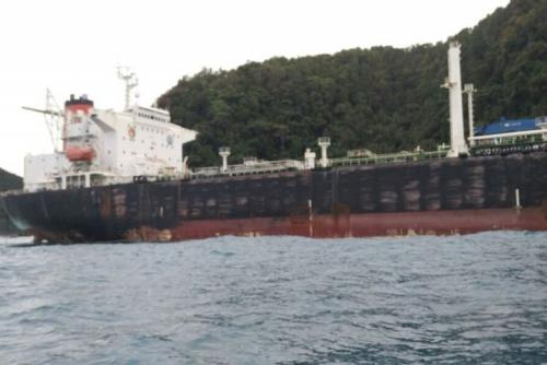 Terdampar di Pulau Beruah, Kapal Misterius Hebohkan Warga Tambelan